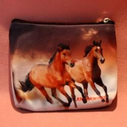 porte monnaie plat chevaux au galop