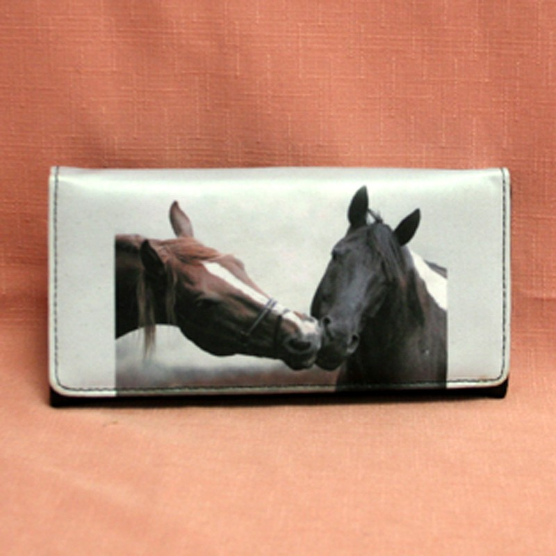 portefeuille grand mod u00e8le deux t u00eates de chevaux