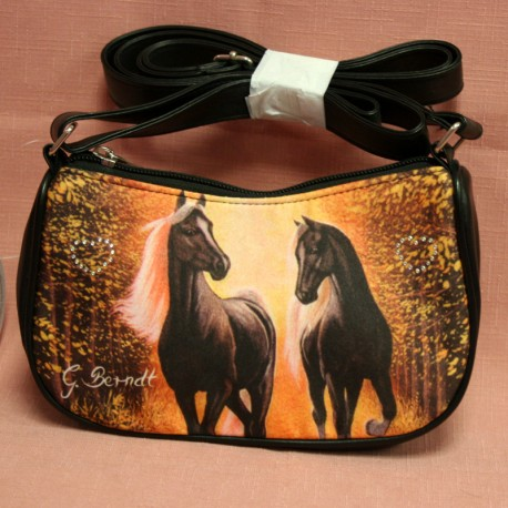 Mini sac à mains cheval orange