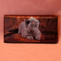 Portefeuille grand modèle chat chartreux