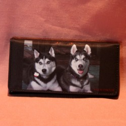 Portefeuille grand modèle deux husky