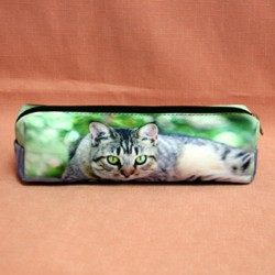 Trousse chat yeux verts