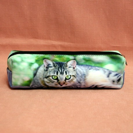 Trousse chat yeux verts