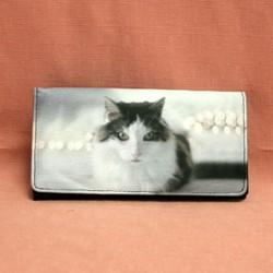 Portefeuille grand modèle chat angora turc
