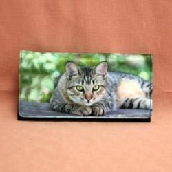 Portefeuille grand modèle chat
